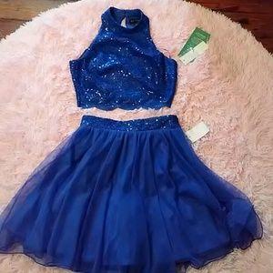 5419bf845dc8 Love Reign Dresses   Royal Blue 2 Piece Short Prom Formal Ball Dress ...